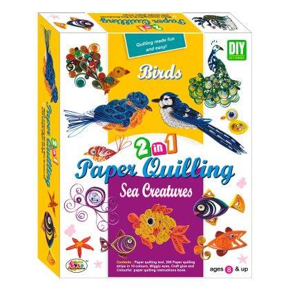 Paper Qualling 2in1 Birds And Sea Creatures - EKTA