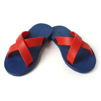 Colourfull Slip Ons Navy Red - Gift Shoes
