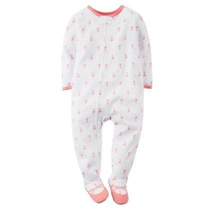 1-piece Snug Fit Cotton Pjs - White - Carter's
