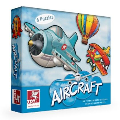 Super Set Of Six - Aircraft - TOY-KRAFT