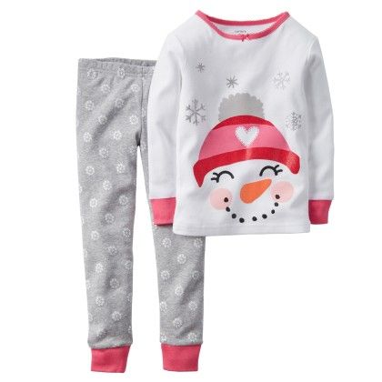 2-piece Snug Fit Cotton Pjs - White - Carter's