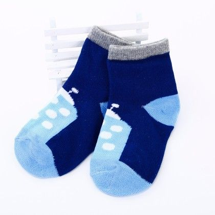 Bug Cartoon Socks- Blue/grey - Tootsies