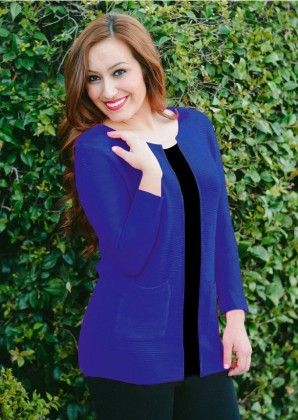 Live It Up Cardigan- Blue - Xcel Couture