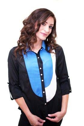 Lexy Block Shirt - Xcel Couture