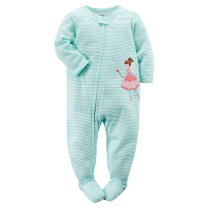 1-piece Snug Fit Cotton Pjs - Turquoise - Carter's