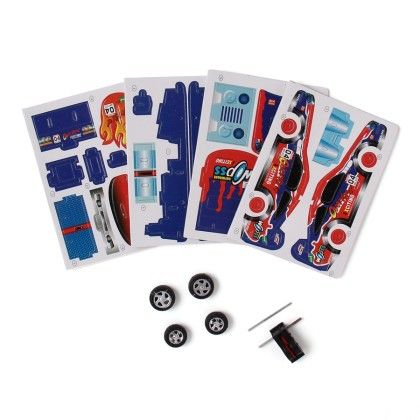 Make Your Own Racing Car - Red/blue - JGJ