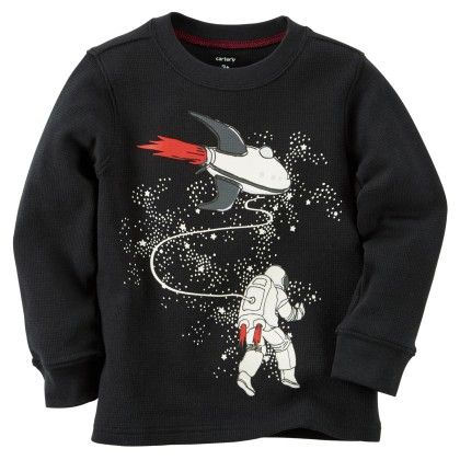 Glow-in-the-dark Astronaut Thermal - Balck - Carter's