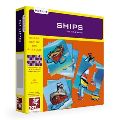 Super Set Of Six  -ships - TOY-KRAFT