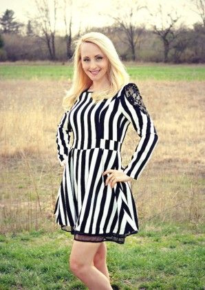 Black And White Striped Dress - Xcel Couture
