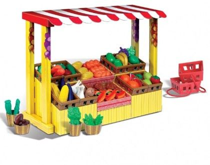 Shop 'n' Play Farmers' Market - Small World Toys