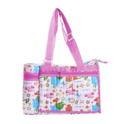 Bag With Bottle Insulator-pink - Morisons* Baby Dreams