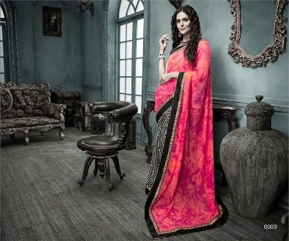 Elegant Printed Saree - Fashion Fiesta