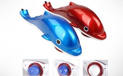 Dolphin Hand Held Massager With Vibration - Assorted Colors - Connectwide
