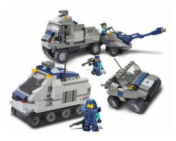 Sluban 467 Pcs Armored Artillery Vehicles Lego Style Building Block Set With Sound Effects - GLOPO