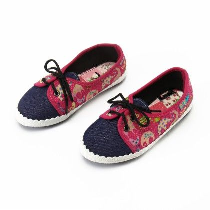 Shoes With Elephant Print And Lace-fushia - Gift Shoes