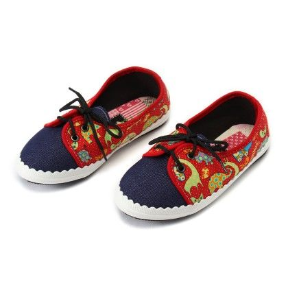 Shoes With Elephant Print And Lace-red - Gift Shoes