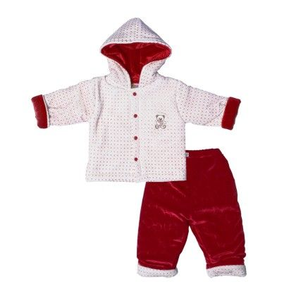 Pollyfill Suit Cream & Red - Mom's Pet