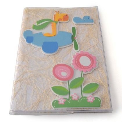 Reusable Notebook Cover With Notebook - Fly High Aeroplane - BownBee