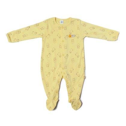 Duck Allover Print Soft Sleepsuit-lemon - TOFFYHOUSE