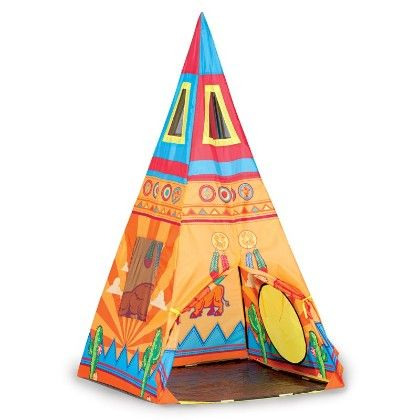 Santa Fe Giant Tee Pee 36 In X 36 In X 67 In - Pacific Play Tents