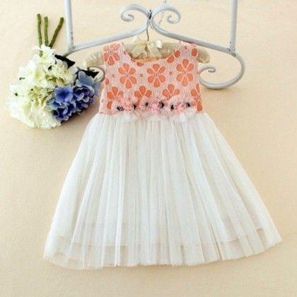Pretty Peach Dress - Petite Kids