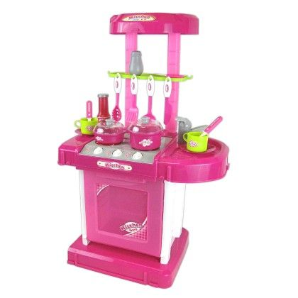 Music Portable Compact Kitchen Set (pink) - GLOPO