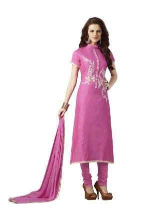 Violet Embroideried Dress Material - Touch Trends Ethnic - 190020