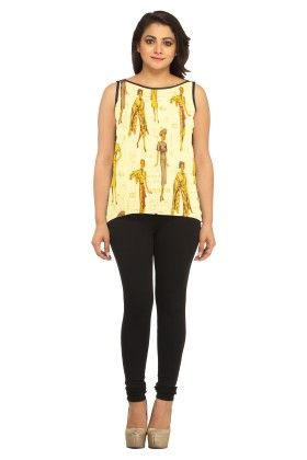 Georgette Printed Yellow - Avya