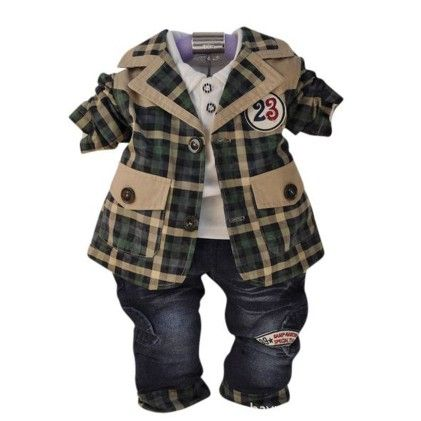 Plaid Power Boy's 3 Piece Set - Lil Mantra