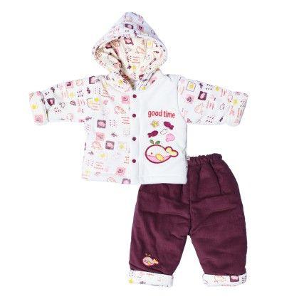 Pollyfill Suit Cream & Purple - Mom's Pet