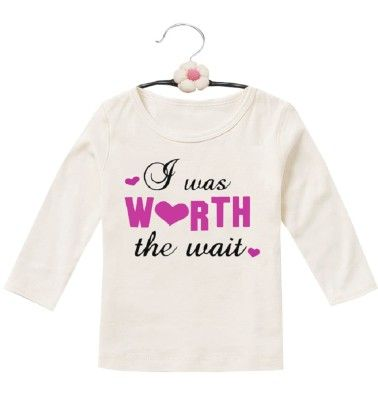 Worth The Wait Tee For Baby Girls - D'chica