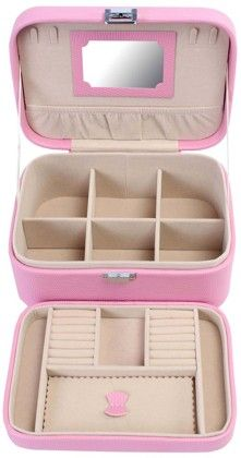 Uberlyfe Double Level Baby Pink Jewellery Box Cum Organizer - L