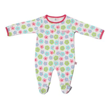 Flowers Allover Print Soft Sleepsuit-printed - TOFFYHOUSE