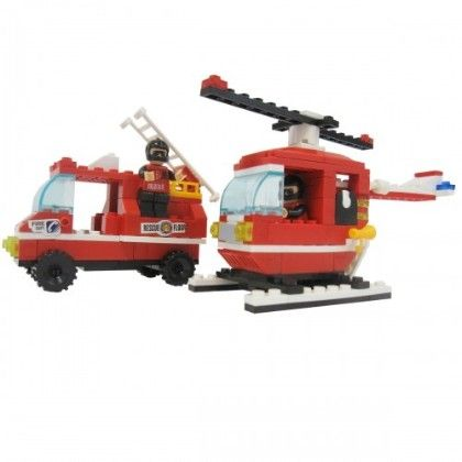 Weagle 173 - Piece Fire Vehicle Lego Style Building Block Set - GLOPO