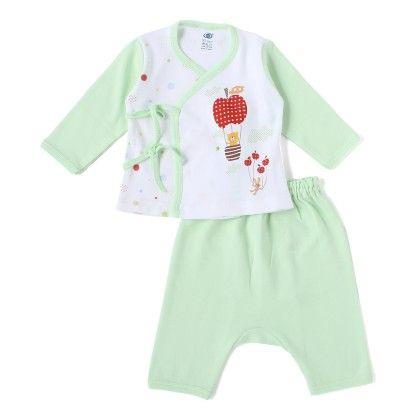 Green Apple Parachute With Teddy Full Sleeves Set - ZERO