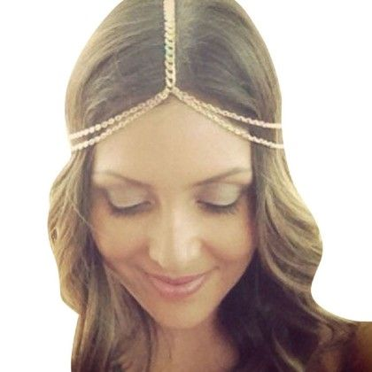 metal Head Chain Jewelry Headband Head Piece Hair Band - - Tonsee