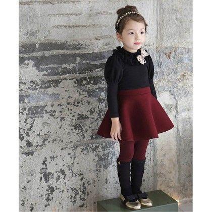 Korean Flare Vintage Dress - Petite Kids