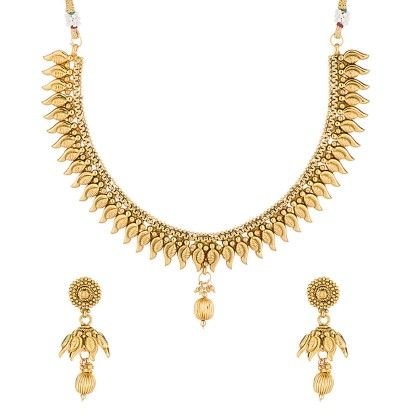 Voylla Gold Toned Necklace Set Featuring Eye-catching Finish