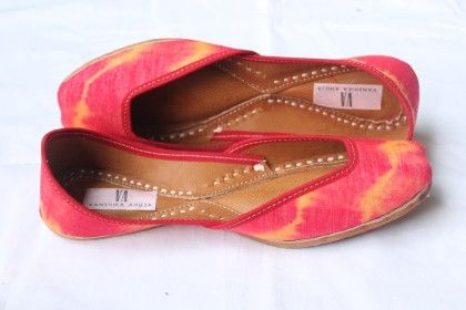Tie-dye Red Orange Jutti - Vanshika