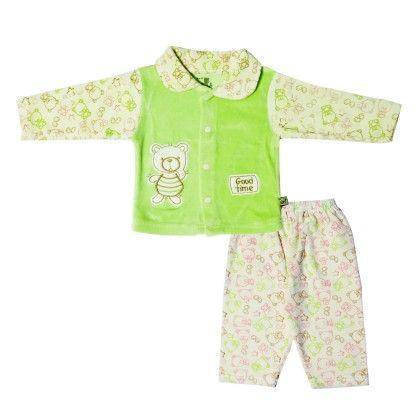Boys Suit Cream & C.green - Mom's Pet