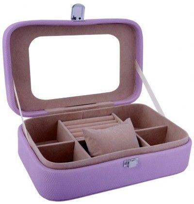 Travel Friendly Electric Purple Compact Jewellery Box Cum Organizer - S - Uberlyfe