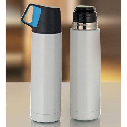 Pebbleyard White Stainless Steel Flask