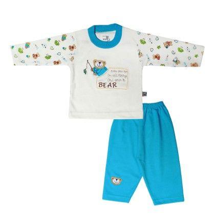 Boys Suit Cream & Ferozi - Mom's Pet