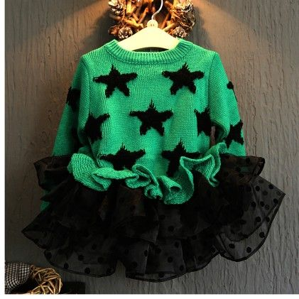 Green Winter Starts Party Frock - Lil Mantra
