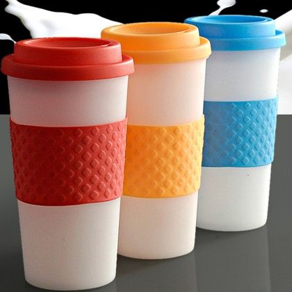 Pebbleyard Plastic Band Mug Set Of 3