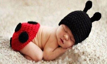Needybee Super Cute Unisex Newborn Red And Black Lady Bugs Baby