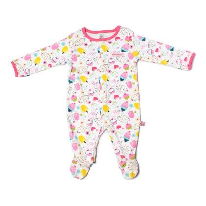 Ice Cream Allover Print Soft Sleepsuit-printed - TOFFYHOUSE