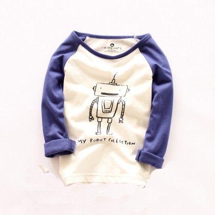 Blue Robo Sweat Shirt - Lil Mantra