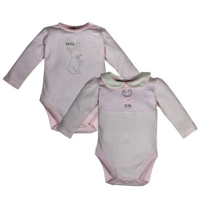 Pack Of Two Bodysuits -pink - FS Mini Klub