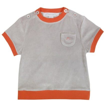 Max Boy T-shirt Taupe - Chateau De Sable